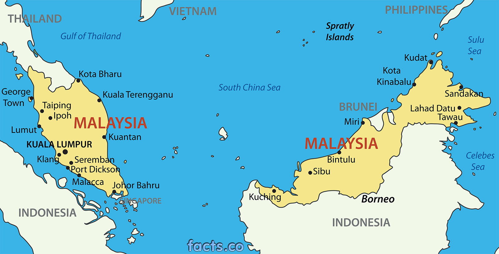 malasia mapa MALASIA MAPA   MOCHILEROS VIAJEROS malasia mapa