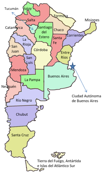 Mapa Argentina Mochileros Viajeros